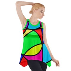 Abstract Curves Side Drop Tank Tunic by vwdigitalpainting
