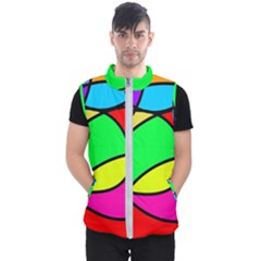 Abstract Curves Men s Puffer Vest