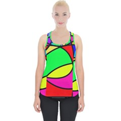 Abstract Curves Piece Up Tank Top by vwdigitalpainting