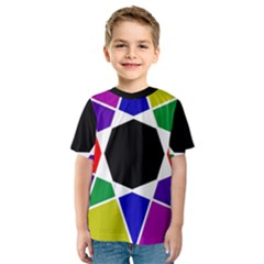 Compass Abstract Kids  Sport Mesh Tee by vwdigitalpainting