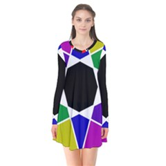 Compass Abstract Flare Dress by vwdigitalpainting