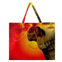 Flare Zipper Large Tote Bag by vwdigitalpainting
