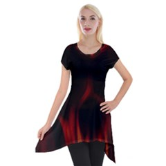 Insanity Short Sleeve Side Drop Tunic by vwdigitalpainting