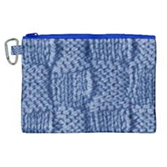 Knitted Wool Square Blue Canvas Cosmetic Bag (xl) by snowwhitegirl