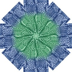 Knitted Wool Square Blue Green Straight Umbrellas by snowwhitegirl