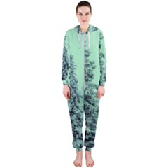 Winter Trees Hooded Jumpsuit (ladies)  by vintage2030
