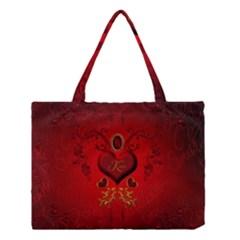 Wonderful Hearts, Kisses Medium Tote Bag by FantasyWorld7