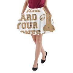 Work Hard Your Bones A Line Pocket Skirt by Melcu