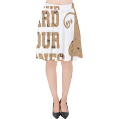 Work Hard Your Bones Velvet High Waist Skirt by Melcu