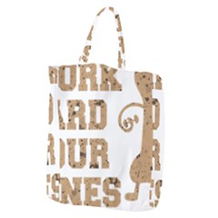 Work Hard Your Bones Giant Grocery Zipper Tote by Melcu