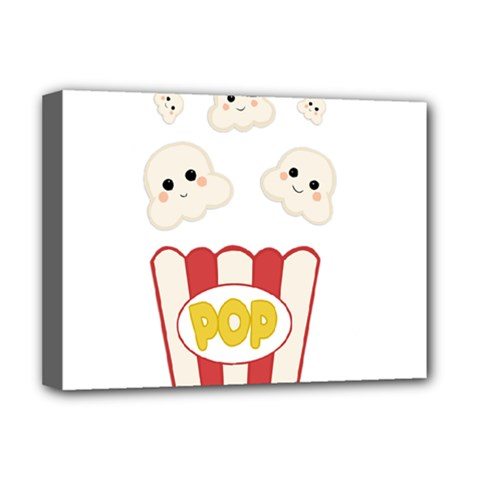 Cute Kawaii Popcorn Deluxe Canvas 16  X 12   by Valentinaart