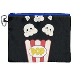 Cute Kawaii Popcorn Canvas Cosmetic Bag (xxl) by Valentinaart