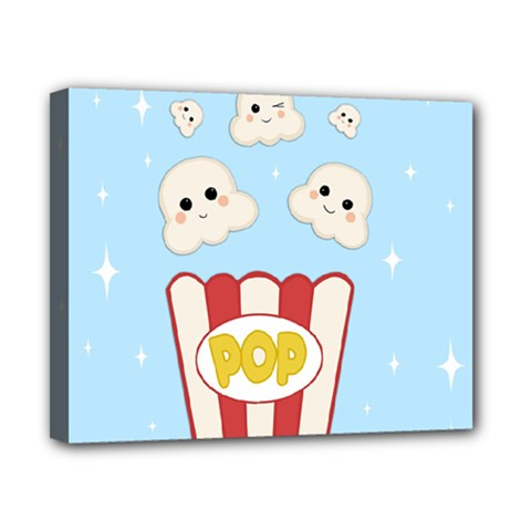 Cute Kawaii Popcorn Canvas 10  X 8  by Valentinaart