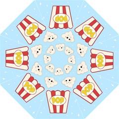 Cute Kawaii Popcorn Straight Umbrellas by Valentinaart
