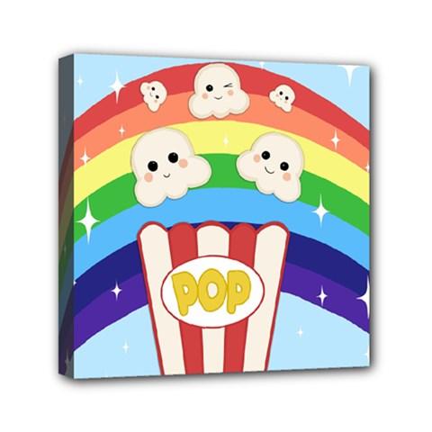 Cute Kawaii Popcorn Canvas Travel Bag by Valentinaart
