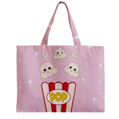 Cute Kawaii Popcorn Zipper Mini Tote Bag by Valentinaart