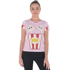 Cute Kawaii Popcorn Short Sleeve Sports Top