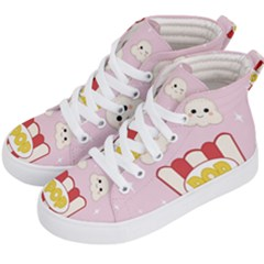 Cute Kawaii Popcorn Kid s Hi Top Skate Sneakers by Valentinaart