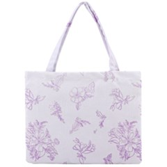 Beautiful,violet,floral,shabby Chic,pattern Mini Tote Bag by 8fugoso
