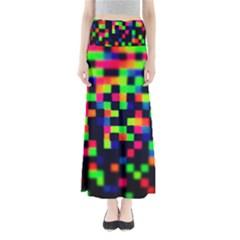 Squares Full Length Maxi Skirt by dawnsiegler