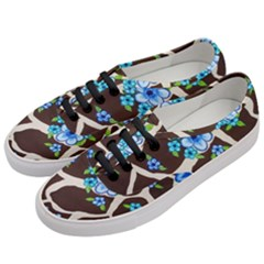 Floral Giraffe Print Women s Classic Low Top Sneakers by dawnsiegler