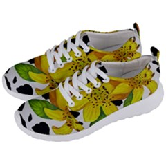 Floral Cow Print Men s Lightweight Sports Shoes by dawnsiegler