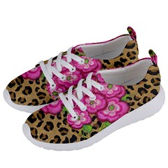 Floral Leopard Print Women s Lightweight Sports Shoes by dawnsiegler