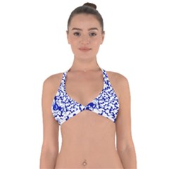 Dna Lines Halter Neck Bikini Top