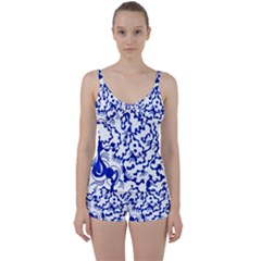 Dna Lines Tie Front Two Piece Tankini