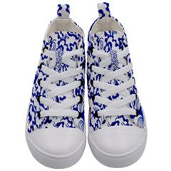 Dna Lines Kid s Mid Top Canvas Sneakers