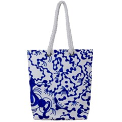 Dna Lines Full Print Rope Handle Tote (small)