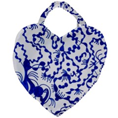Dna Lines Giant Heart Shaped Tote