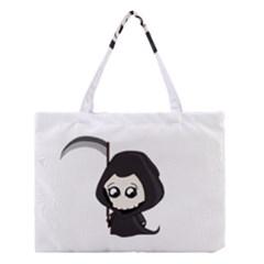 Cute Grim Reaper Medium Tote Bag by Valentinaart