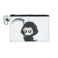 Cute Grim Reaper Canvas Cosmetic Bag (medium) by Valentinaart