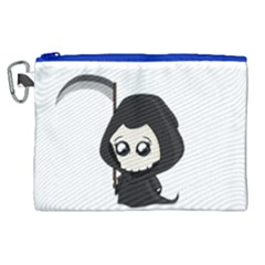 Cute Grim Reaper Canvas Cosmetic Bag (xl) by Valentinaart
