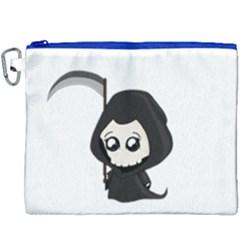 Cute Grim Reaper Canvas Cosmetic Bag (xxxl) by Valentinaart