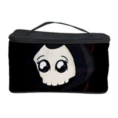 Cute Grim Reaper Cosmetic Storage Case by Valentinaart