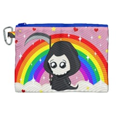Cute Grim Reaper Canvas Cosmetic Bag (xl) by Valentinaart