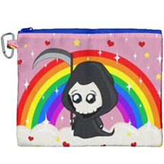 Cute Grim Reaper Canvas Cosmetic Bag (xxxl) by Valentinaart