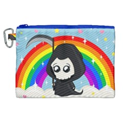 Cute Grim Reaper Canvas Cosmetic Bag (xl)