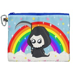 Cute Grim Reaper Canvas Cosmetic Bag (xxl) by Valentinaart