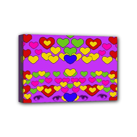 I Love This Lovely Hearty One Mini Canvas 6  X 4  by pepitasart