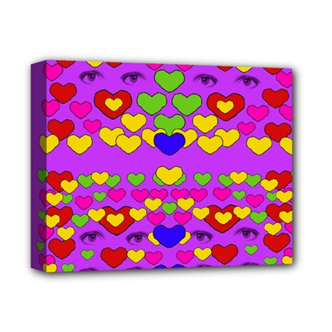 I Love This Lovely Hearty One Deluxe Canvas 14  X 11  by pepitasart