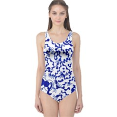 Dna Square  Stairway One Piece Swimsuit