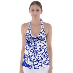 Dna Square  Stairway Babydoll Tankini Top