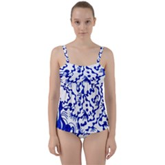 Dna Square  Stairway Twist Front Tankini Set