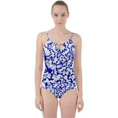 Dna Square  Stairway Cut Out Top Tankini Set