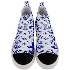 Dna Square  Stairway Men s Mid Top Canvas Sneakers