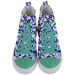 Dna Square  Stairway Women s Mid Top Canvas Sneakers