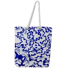 Dna Square  Stairway Full Print Rope Handle Tote (large)
